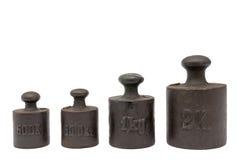 Pesos de la calibración Imágenes de archivo libres de regalías