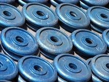 Pesos de la gimnasia Foto de archivo