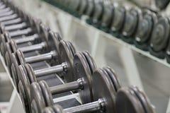 Pesos de la pesa de gimnasia Imagen de archivo libre de regalías
