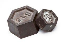 Pesos de la vendimia Imagen de archivo