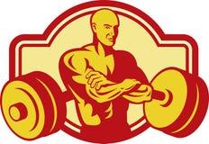 Pesos del constructor de carrocería del Weightlifter stock de ilustración