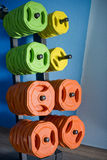 Pesos del gimnasio Imagen de archivo