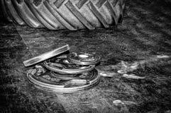 Pesos en gimnasio Foto de archivo