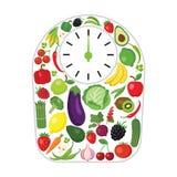 Pesos hechos de verduras y de frutas libre illustration