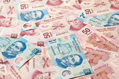 Pesos mexicains image libre de droits