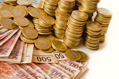 Pesos mexicanos Imágenes de archivo libres de regalías