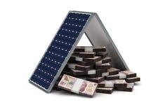 Pesos mexicanos ahorros de energía Imagen de archivo
