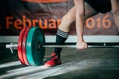 Pesos pesados e powerlifting Foto de Stock