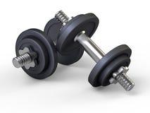 Pesos, pesas de gimnasia, gimnasia Fotografía de archivo libre de regalías