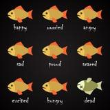 ¿Pesque el alfabeto de la lengua - cómo entender sus pescados? Imagenes de archivo