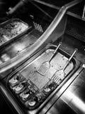 Pesque el departamento Mirada artística en blanco y negro Fotos de archivo libres de regalías