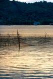 Pesque a exploração agrícola da capoeira no lago Songkhla, Tailândia Fotos de Stock Royalty Free