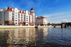 Pesque la aldea en Kaliningrad (Koenigsberg), Rusia imagen de archivo libre de regalías