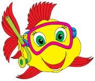 Pesque o mergulhador ilustração do vetor