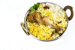 Pesque peixes e o arroz indianos do estilo de Biryani com masala picante fotos de stock royalty free