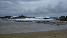 Pesquera strand Isabela Puerto Rico royaltyfri foto