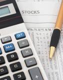 Pesquisa & análise dos dados do mercado de valores de acção Foto de Stock