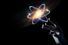 Pesquisa da molécula do átomo Foto de Stock Royalty Free