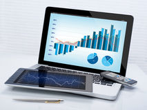 Pesquisa do desenvolvimento de negócios Imagem de Stock Royalty Free
