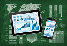 Pesquisa do desenvolvimento de negócios Foto de Stock