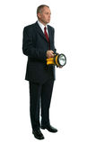 Pesquisa do homem de negócios Foto de Stock Royalty Free