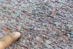 Pesquisa do mapa. Imagens de Stock Royalty Free