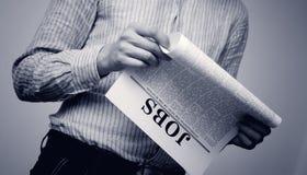 Pesquisa do trabalho Fotografia de Stock