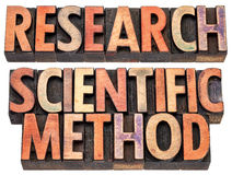 Pesquisa e método científico Foto de Stock