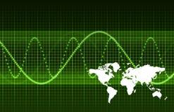 Pesquisa financeira de mercado mundial Imagem de Stock