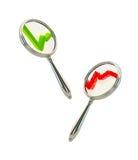 Pesquisa: gráficos positivos e negativos Imagem de Stock Royalty Free