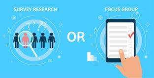 Pesquisa ou grupo foco da avaliação Imagens de Stock