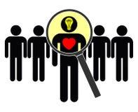 Pesquisa pela mente e pelo coração Imagens de Stock