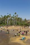 Pesquisadores da safira em Madagáscar Fotografia de Stock