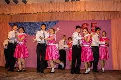 Pesquise estudantes do seminário na cidade de Obninsk, região de Kaluga, Rússia foto de stock royalty free
