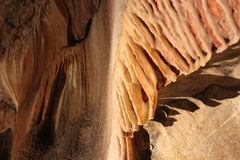 Pesrpective of stalagmite in Jenolan caves` Royalty Free Stock Photo
