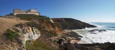 Pessegueiro beach fort royalty free stock image