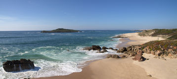 Pessegueiro Island beach Stock Photos