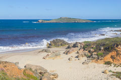 Pessegueiro island in Porto Covo Stock Images