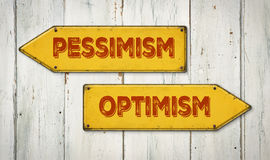 Pessimism eller optimism arkivbild