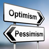 Pessimism or optimism. Royalty Free Stock Photos