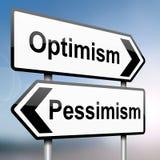 Pessimism or optimism. Royalty Free Stock Photos