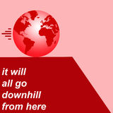 Pessimisme de la terre Image libre de droits