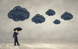 Pessimist in business Stock Photography