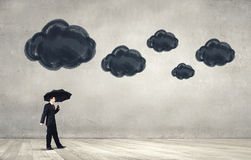 Pessimist in business Stock Image