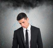 Pessimist businessman for the crisis Royalty Free Stock Photo