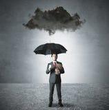 Pessimist in de zaken Stock Afbeelding