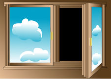 Pessimist's window Stock Images