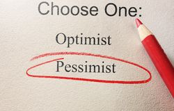 Pessimist survey circle Royalty Free Stock Images