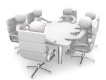 pessoa 3d em uma tabela de conferência Imagens de Stock Royalty Free