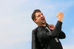 Pessoa alegre do negócio Fotografia de Stock Royalty Free